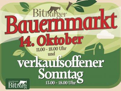 Bitburger Bauernmarkt & verkaufsoffener Sonntag am 14. Oktober