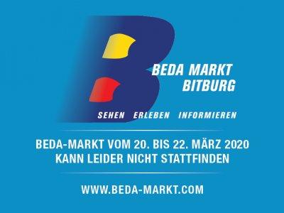 Beda-Markt vom 20. bis 22. März 2020 kann leider nicht stattfinden