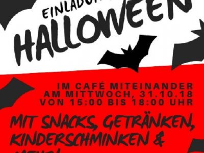 Einladung ins Cafe Miteinander an Halloween
