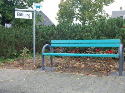 Erste Mitfahrerbank in Bitburg